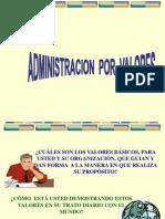 Administracion Por Valores