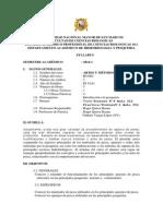 2014-1 Artes y Metodos de Pesca, Prof. Roger Quiroz Plan 2003