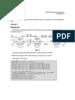 Lab Report  - Cisco Router Configuration