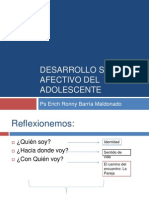 Desarrollo Sexual y Afectivo Del Adolescente