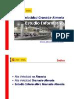 Estudio informativo Almería-Granada