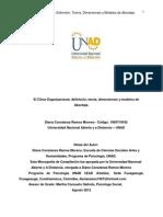 Monografia Clima Organizacional