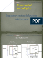 Implementacion Del Puente Wheatstone