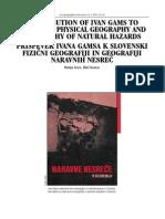 CONTRIBUTION OF IVAN GAMS TO SLOVENIAN PHYSICAL GEOGRAPHY, Matija Zorn, Blaz Komac, 2013