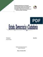 Estado Democracia y Ciudadania