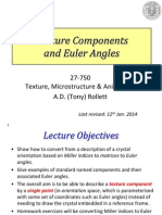 Texture Components and Euler Angles