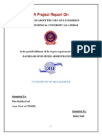 A Project Report on Usage of Int...