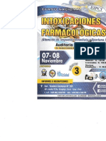 Intoxicaciones Farmacológicas. 07-08 Noviembre-2014