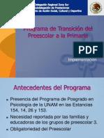 Programa de Transición Del Preescolar a La Primaria