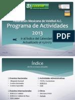 Calendario Actividades 2013 Voley Mexico