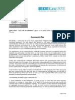 334. Community Tax RCU 3.1.12