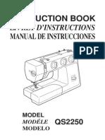 Sewing Machine Manual QS2250