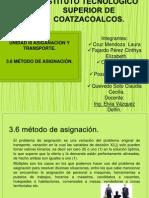 3.6 Metodo de Asignacion.