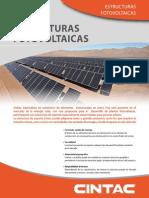 Folleto Comercial Estructuras Fotovoltaicas