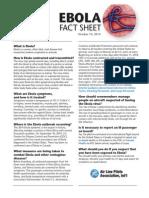 Ebola Fact Sheet