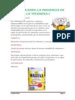Demostrand Presencia de La Vitamina c