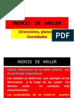 5 Indices de Miller Direc Pla Densi