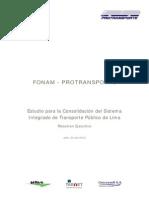 FONAM-Estudio Para La Consolidación Del Sistema Integrado de Transporte Público de Lima