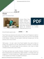 Pope at Santa Marta_ Enemies of the Cross of Christ