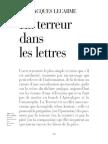 JACQUES LECARME - La terreur dans les lettres