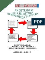 plan de trabajo  sobre Biblioteca y Cultura