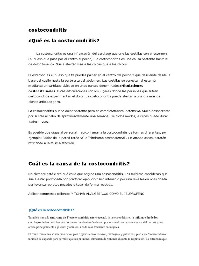 sindrome de tietze o costocondritis pdf