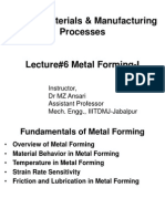 Lecture#1 Metal Forming-I
