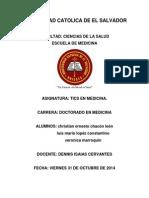 Trabajo de Tics(Informatica de La Medicina)