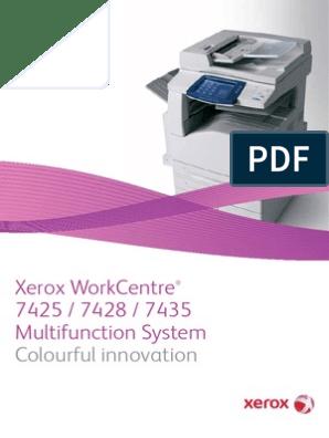 Xerox WC 7425-7435 | Image Scanner | Computer Network