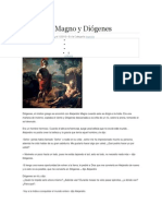 Alejandro Magno y Diógenes