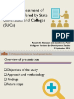 Review & Assessment of Programs Offered by State Universities and Colleges (SUCs)