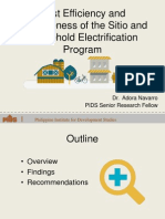 Cost Efficiency and Effectiveness of the Sitio and Household Electrification Program