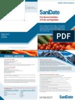 SaniDate Chlorine Comparison Sheet