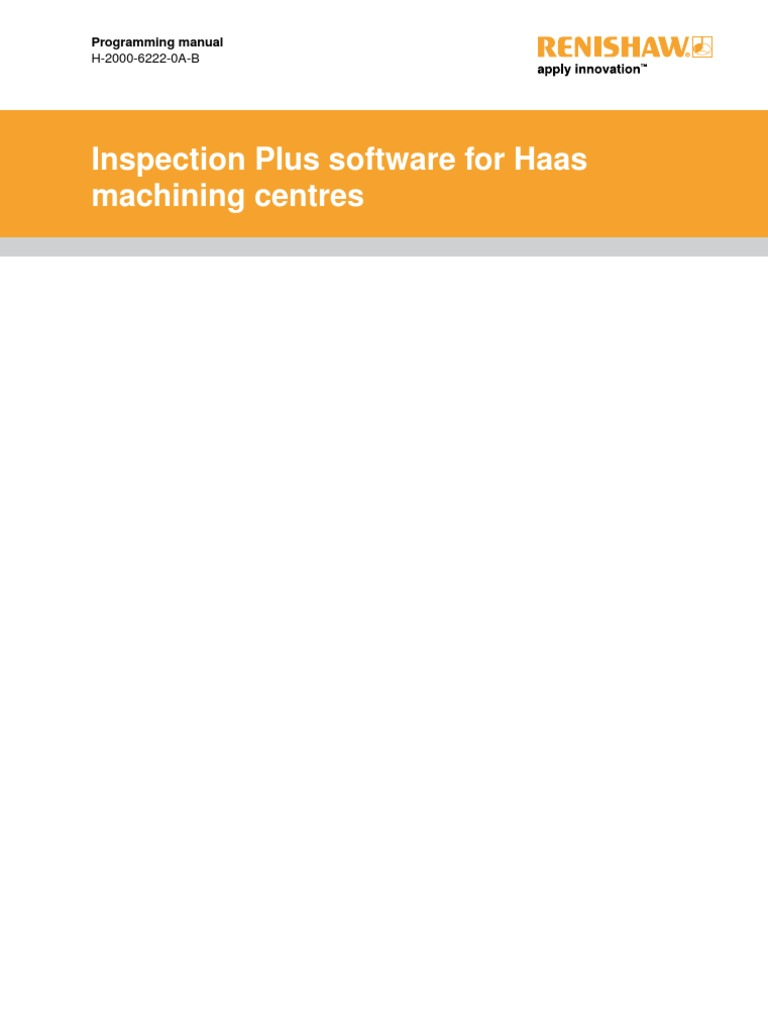 Renishaw Programming Manual H 2000 6222 0A B | License