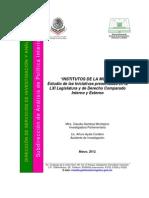 Estudio de Iniciativas Presentadas Para Institutos de La Mujer - Camara de Diputados 2012