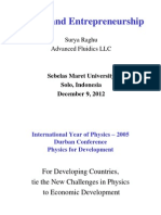 Physics and Entrepreneurship