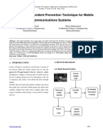 An Adaptative Accident Prevention Technique for Mobile Communications Systems