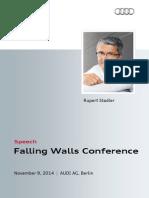 Rupert Stadler - Falling Walls