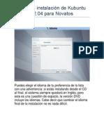 Guía de Instalación de Kubuntu 12