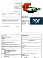 Boulder Mania Registration Form