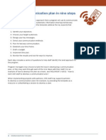 Communication Toolbox Template Develop a Communication Plan