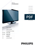 Philips TV 32pfl3605 Manual