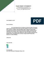 Academic Invitation Letter