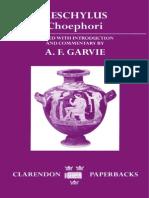 Aeschylus - Choephori (OUP, 1986)