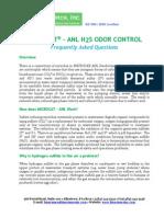 MICROCAT - ANL H2S ODOR CONTROL FAQ