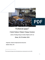 Report on the United Nations Climate Change Sessions, October 2014