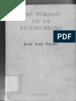 Jose Luis Pardo - Las Formas de La Exterioridad