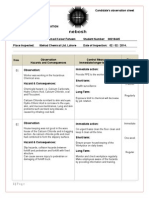Nebosh IGC-3 Observation Sheet (00218445) Final