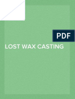 Lost Wax Casting Instructions