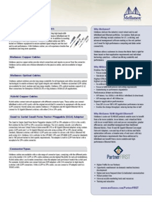 Mellanox PartnerFIRST Cable Guide | Ethernet | Computer Networking